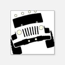"Jeepster Rock Crawler Square Sticker 3"" x 3"""