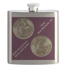 New Rochelle 1938 Silver Half Dollar Flask