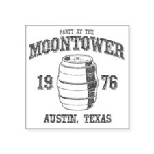 "Party at the Moontower 1976 Square Sticker 3"" x 3"""