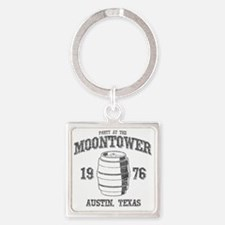 Party at the Moontower 1976 Square Keychain