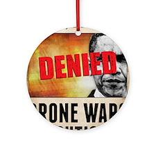 The Drone War On Terror Round Ornament