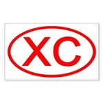 XC Oval (Red) Rectangle Sticker
