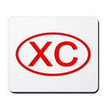 XC Oval (Red) Mousepad