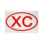 XC Oval (Red) Rectangle Magnet