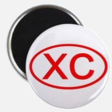 XC Oval (Red) Magnet
