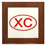XC Oval (Red) Framed Tile