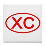 XC Oval (Red) Tile Coaster