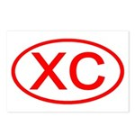 XC Oval (Red) Postcards (Package of 8)