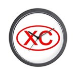 XC Oval (Red) Wall Clock