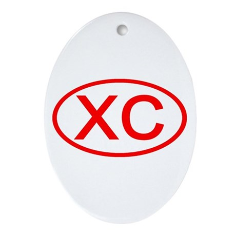 XC Oval (Red) Oval Ornament