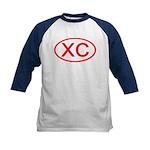 XC Oval (Red) Kids Baseball Jersey