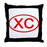 XC Oval (Red) Throw Pillow