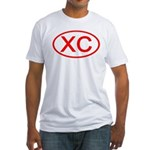 XC Oval (Red) Fitted T-Shirt