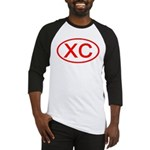 XC Oval (Red) Baseball Jersey
