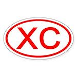 XC Oval (Red) Oval Sticker