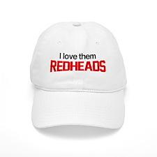 I Love Them Redheads Baseball Cap