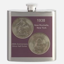 1938 New Rochelle Silver Half Dollar Flask