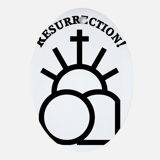 Resurrection Oval Ornament