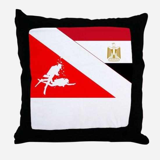 Dive Egypt Throw Pillow