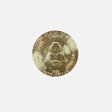 New Rochelle Silver Half Dollar revers Mini Button