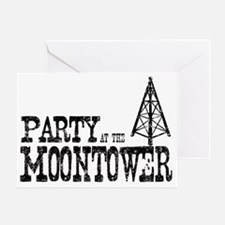 Party at the Moontower Greeting Card