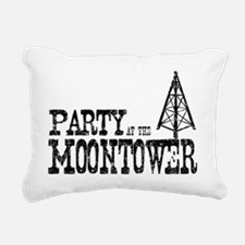 Party at the Moontower Rectangular Canvas Pillow