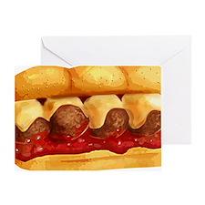 Meatball Sub Greeting Card