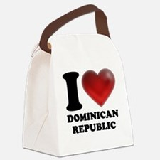 I Heart Dominican Republic Canvas Lunch Bag