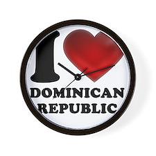 I Heart Dominican Republic Wall Clock