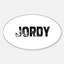 Jordy Oval Decal