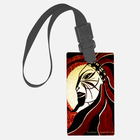 Lion Shaman Luggage Tag