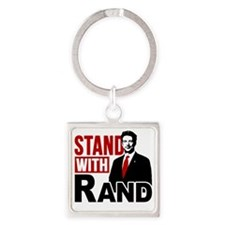 Stand With Rand Square Keychain
