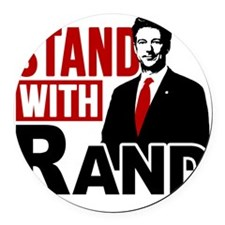 Stand With Rand Round Car Magnet