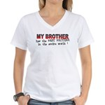My Brother Has the Best Broth Women's V-Neck T-Shi