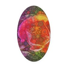 Bright color flowers Oval Car Magnet