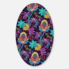 Colorful Retro Floral Design-Glass  Decal