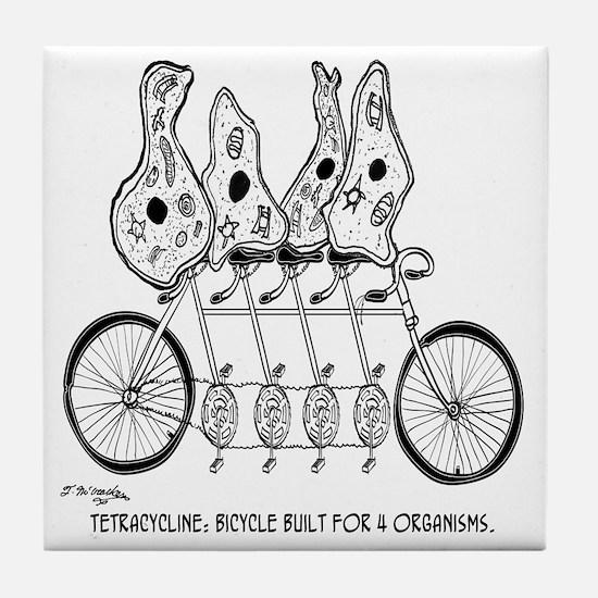 Tetracycline: Bike Built For Four Tile Coaster