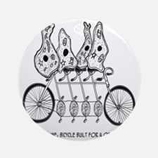 Tetracycline: Bike Built For Four Round Ornament