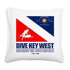 Dive Key West Square Canvas Pillow
