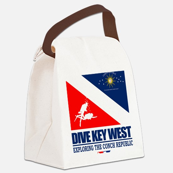 Dive Key West Canvas Lunch Bag