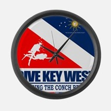 Dive Key West Large Wall Clock