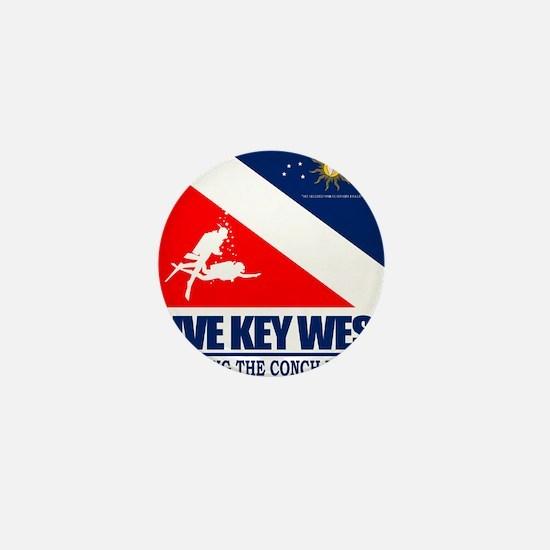 Dive Key West Mini Button