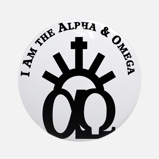 The Alpha & Omega Round Ornament