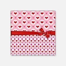 "Fancy Hearts Square Sticker 3"" x 3"""