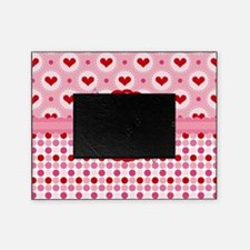 Red Pink Hearts and Bows Picture Frame