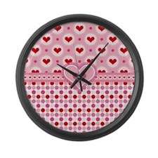 Country Hearts Large Wall Clock