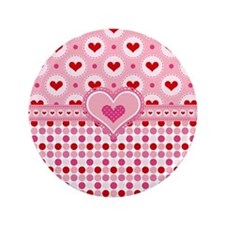 """Country Hearts 3.5"""" Button"""