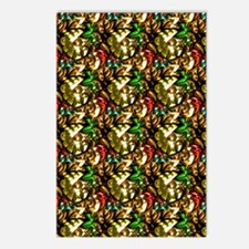 Jewelled Leaves Postcards (Package of 8)