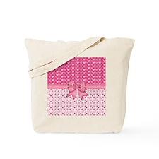 Pink Hearts and Peace Dots Tote Bag