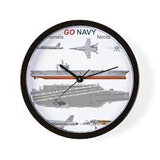 F/A-18 Hornet USS Nimitz CVN-68 Wall Clock